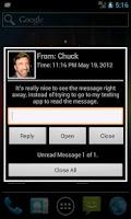 Screenshot of Message Alert