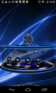 玩個人化App|Next 3D Theme Blue Twister免費|APP試玩