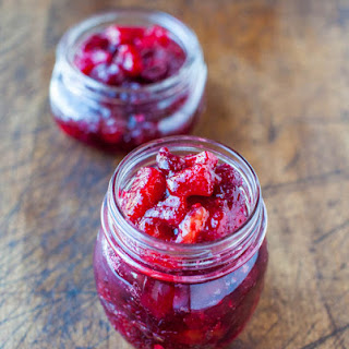 Cranberry Pineapple Mango Preserves with Cinnamon and Ginger (vegan, gluten-free)
