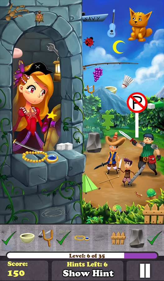 Hidden Object - Rapunzel Free!- screenshot
