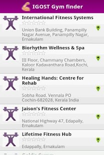 Health Club Finder- screenshot thumbnail