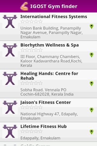 Health Club Finder- screenshot