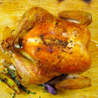 Lemon Roast Chicken with Herb Potatoes