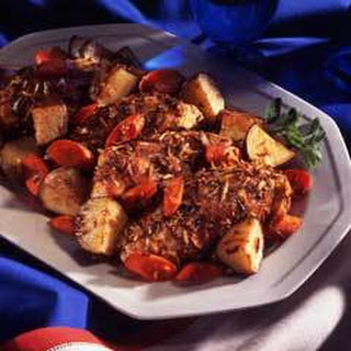 Onion-roasted Chicken & Vegetables.