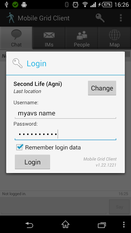 Mobile Grid Client- screenshot