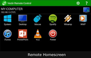 Screenshot of Vectir PC Remote Control