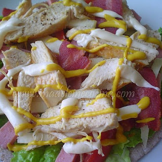 Pita Clubhouse Sandwich.