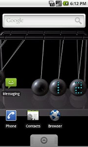 Newton's cradle live wallpaper v1.5