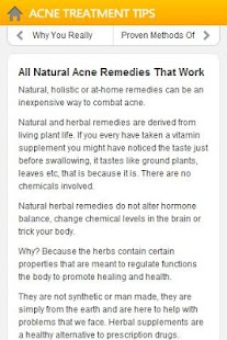 Acne Treatment Tips- screenshot thumbnail