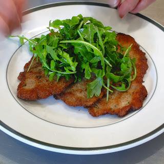 Pork Scaloppine with Arugula Salad
