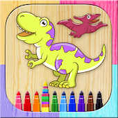 Paint and color dinosaurs