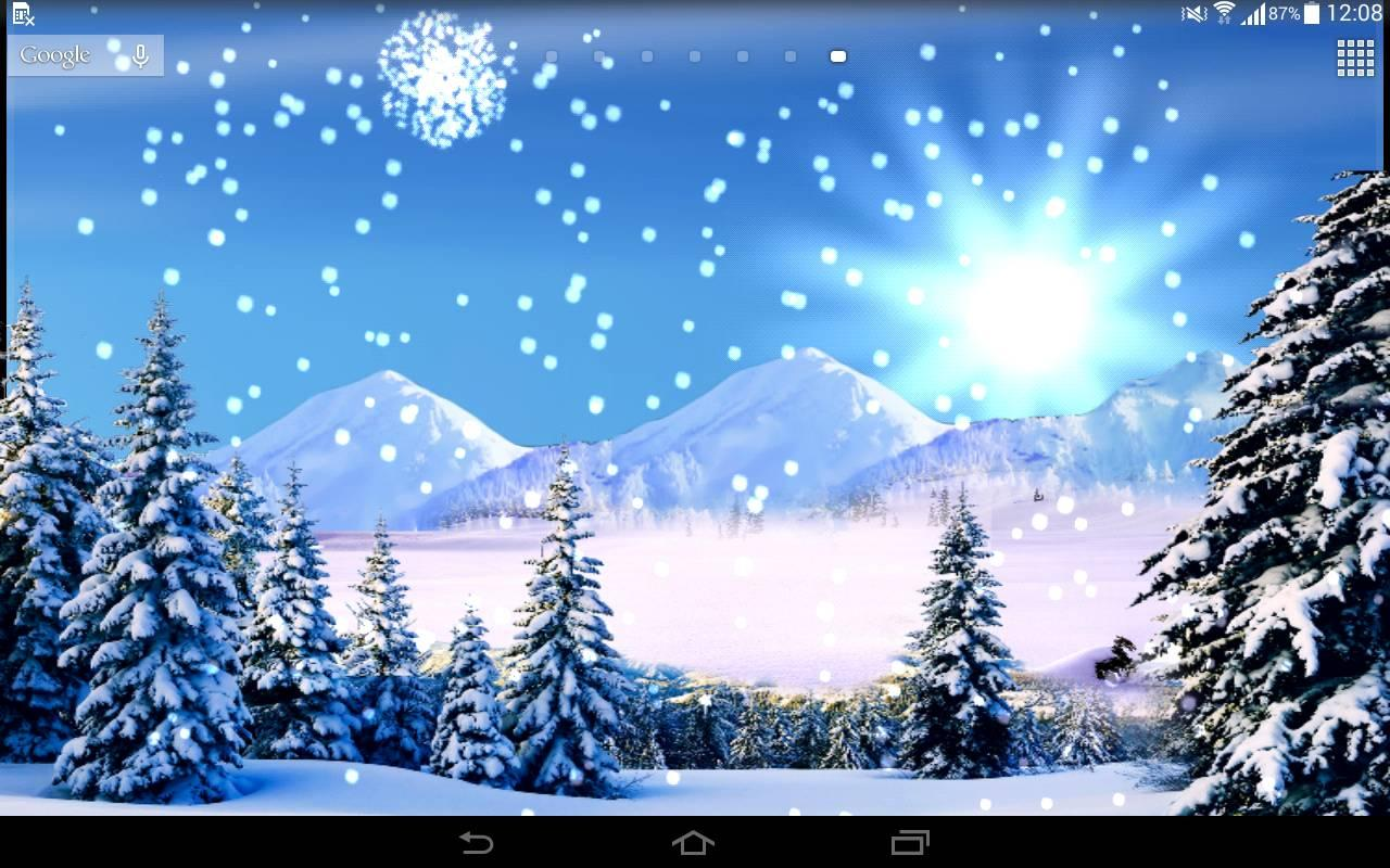 3d snowfall live wallpaper android apps on google play