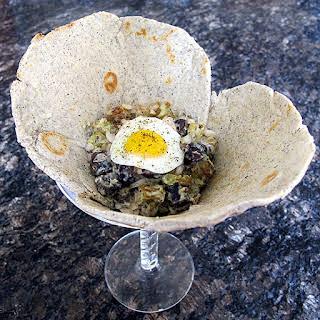 Southwestern Potato Salad with Chia Seeds Roasted Fingerlings and Poblano Aioli.
