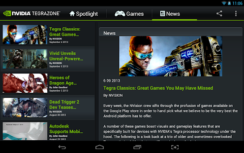 NVIDIA TegraZone - screenshot thumbnail