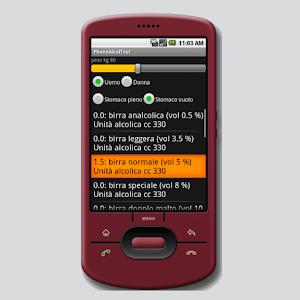 Phone Alcol Test
