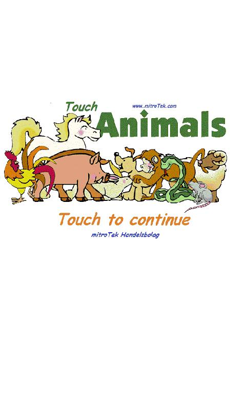 Touch Animals - screenshot