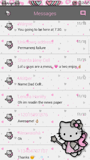 Angel Kitty Go SMS