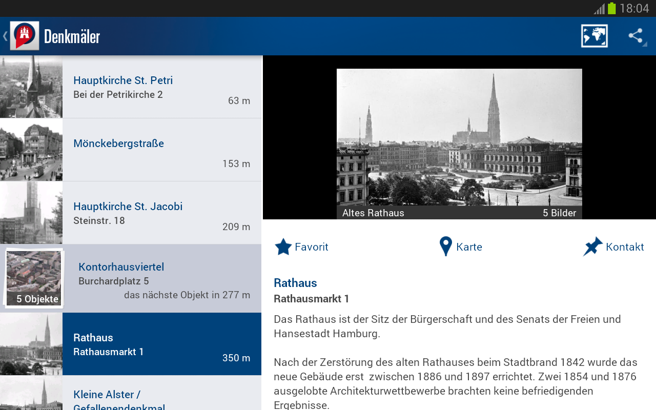 Kulturpunkte Hamburg- screenshot