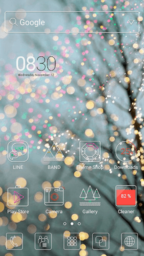 WinterTree LINE Launcher theme