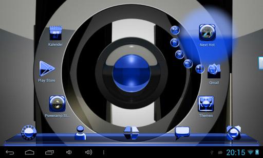 玩免費個人化APP|下載NEXT LAUNCHER THEME 藍色金屬 app不用錢|硬是要APP