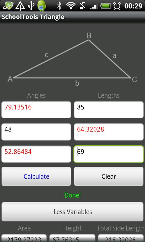 Triangle Solver Tool - screenshot