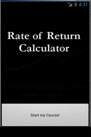 Rate of Return Calculator