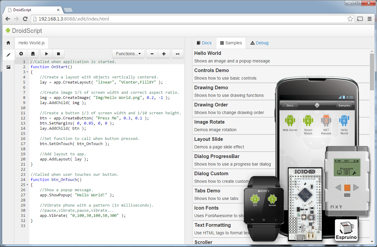 Droidscript  Javascript Mobile Coding Ide Screenshot