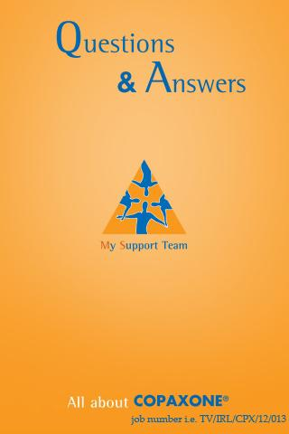Copaxone - My Support Team - screenshot