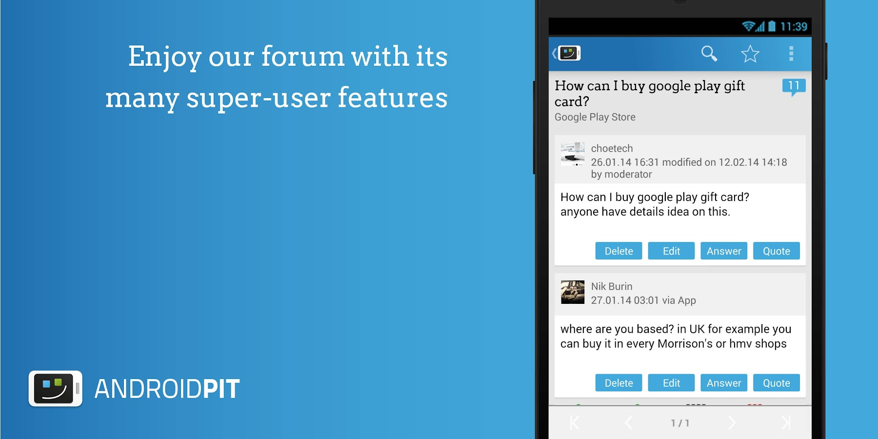 AndroidPIT: Apps, News, Forum - screenshot