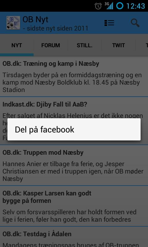 OB Nyt - screenshot