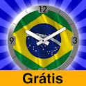 Brazil Flag Analog Clock Lite logo