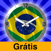 Brazil Flag Analog Clock Lite