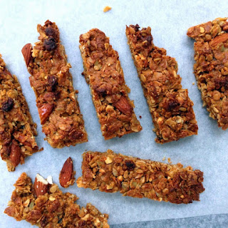 Honey, Fig And Peanut Butter Granola Bars.