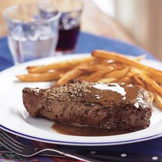 Classic Steaks au Poivre.
