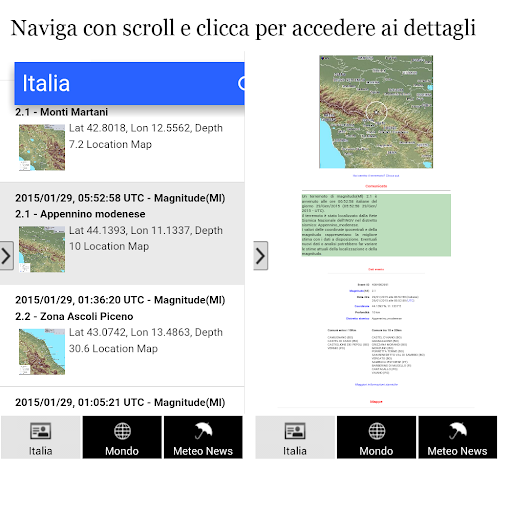 Earthquakes Italy and world