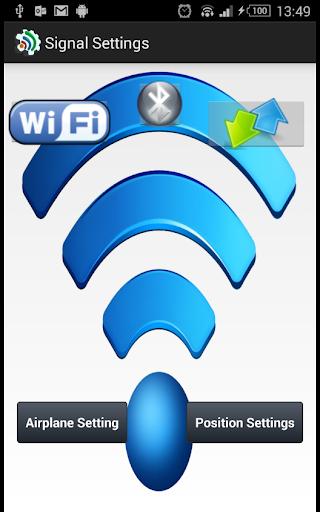 Signal Settings Wi-Fi Data On