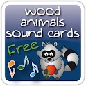 Wood Animals Sound Cards Free logo