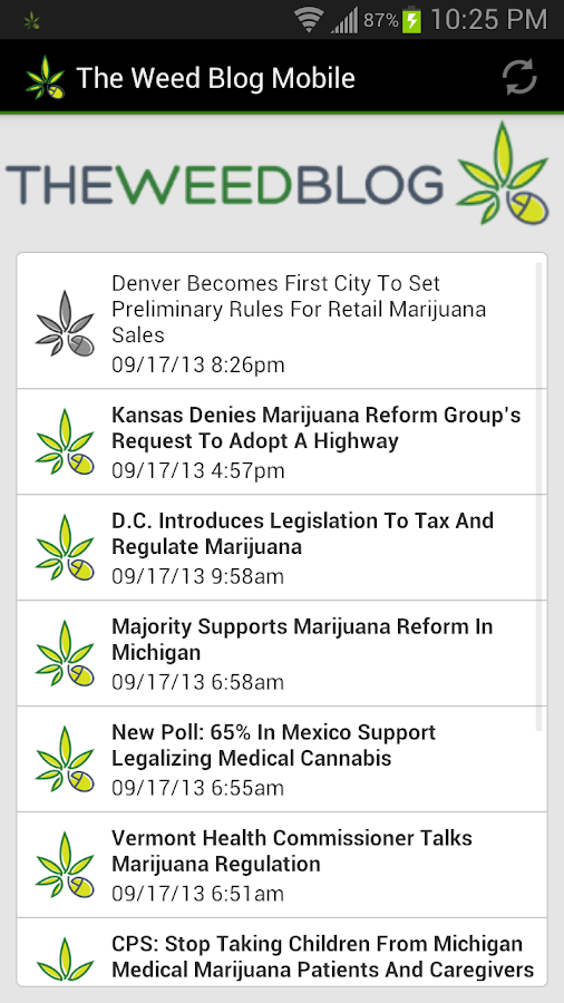 The Weed Blog Mobile - screenshot