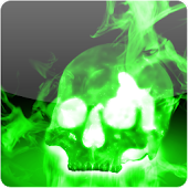 Smoky Neon Skull Wallpaper
