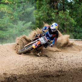 Berm Buster by Rich Sutherland - Sports & Fitness Motorsports ( motocross, bikes, racing, mx, dirt bikes., motorsport )