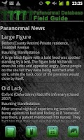 Screenshot of Paranormal Field Guide