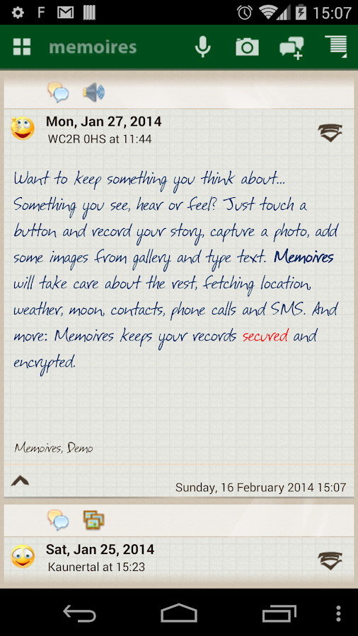 Memoires: the Diary - screenshot