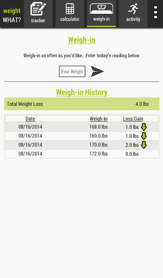 Weight What Tracker Calculator - Android Apps on Google Play