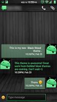Screenshot of Black Wood Green CM11 Theme