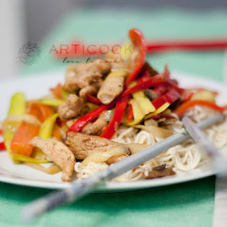 Chinese Noodles With Chicken.