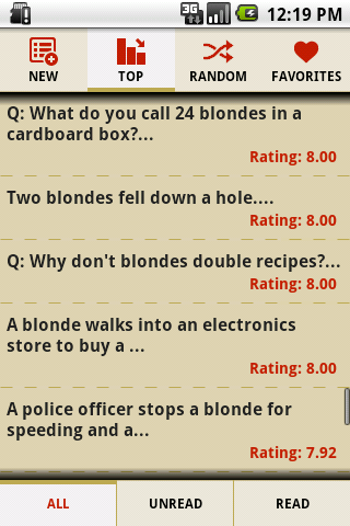 Funny Blonde Jokes - screenshot