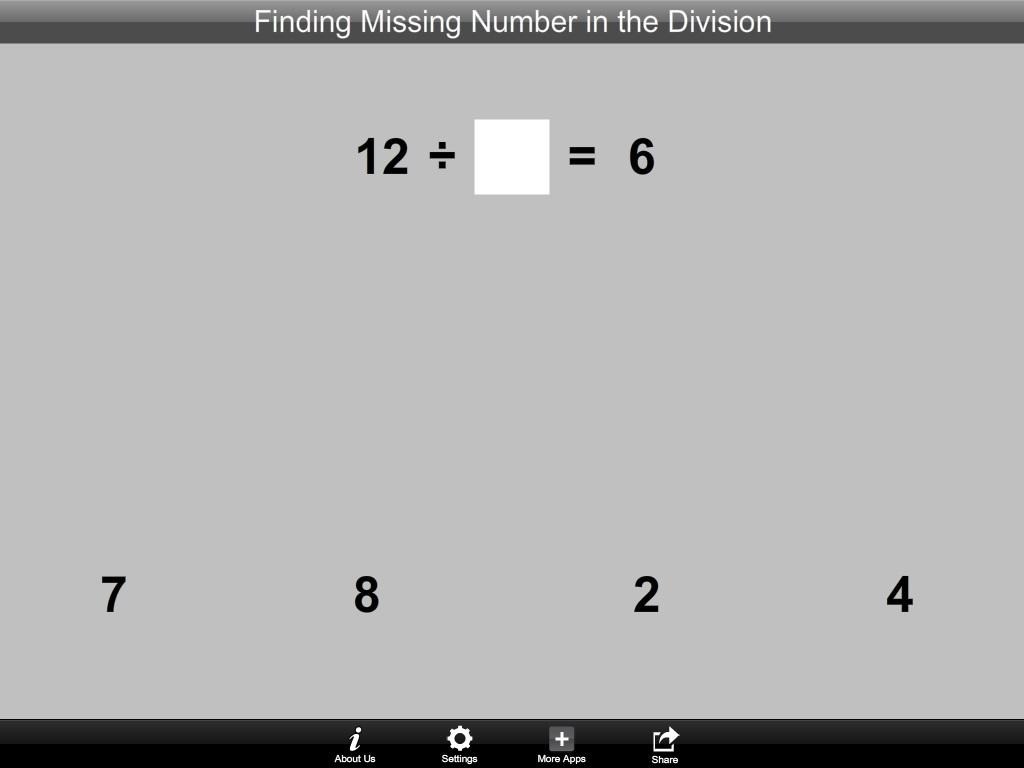 Finding Number in the Division- screenshot