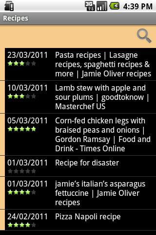 Mibori Recipe Organizer FREE- screenshot
