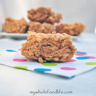 Healthier Peanut Butter Rice Krispy Treats Recipe