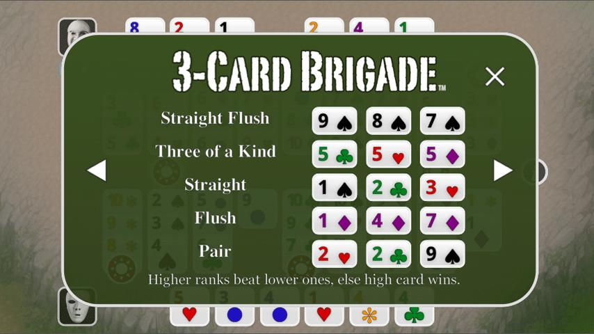 3-Card Brigade Poker FREE - screenshot